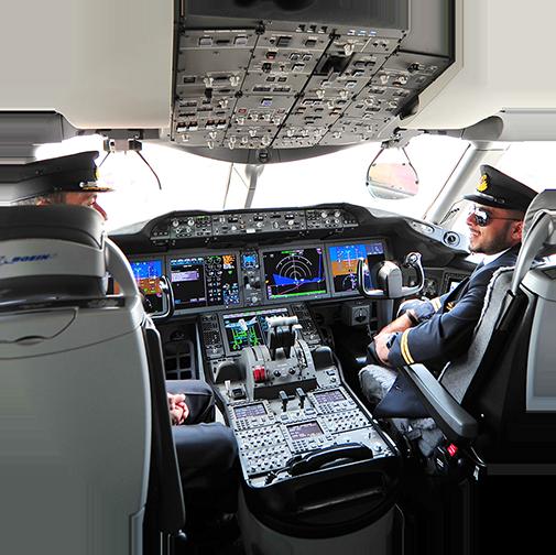 Image de pilotes dans un cockpit