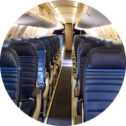 Image of the interior of an airplane