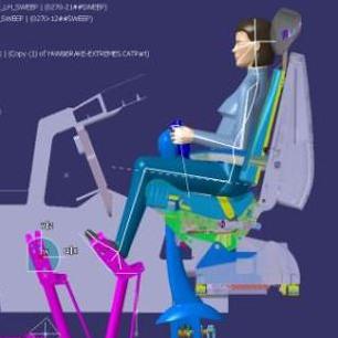 illustration of an ergonomic position for a pilot