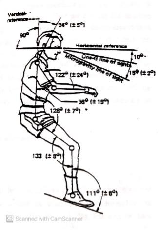 illustration of an ergonomic sitting position