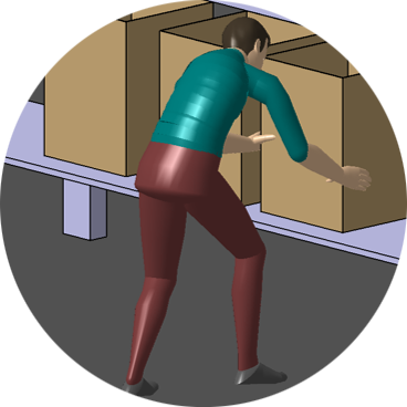 illustration of a man carrying a box