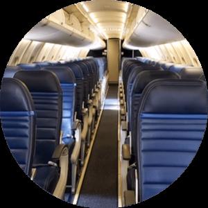 Image de l'intérieur d'un avion
