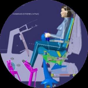 illustration d'une position ergonomique pour un pilote