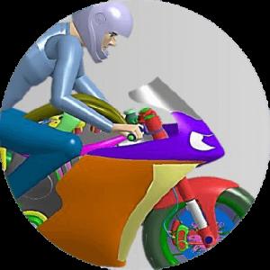 illustration d'un homme sur une moto