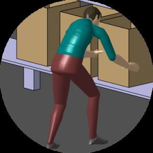 illustration d'un homme portant une boîte en carton
